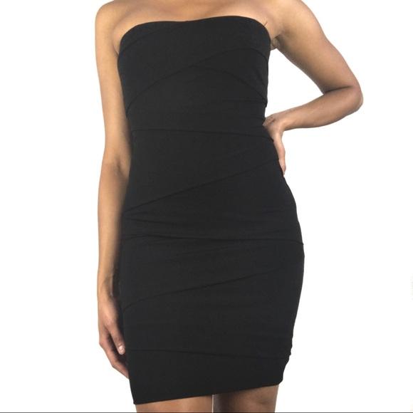 White House Black Market Dresses Black Strapless Dress Poshmark